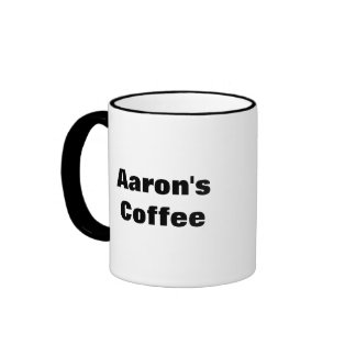 Aaron's Coffee Ringer Mug