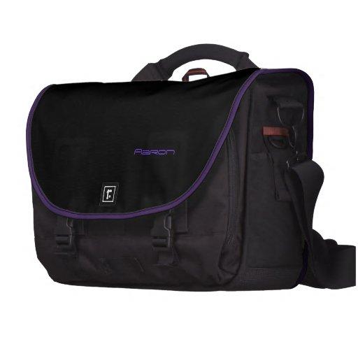 Aaron's laptop bag