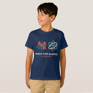 AAS + March for Science; Kids! - Navy T-Shirt