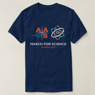 AAS + March for Science; Navy Blue T-Shirt