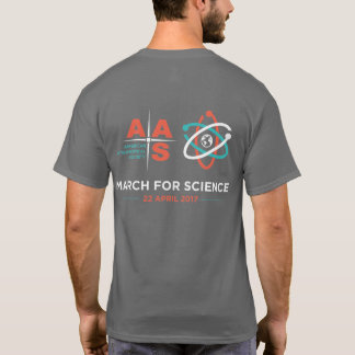 AAS + March for Science; Reverse, Dark Gray T-Shirt