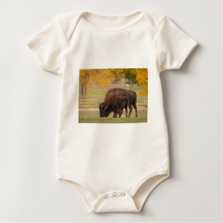 AAutumn Buffaloes Cow and Calf Baby Bodysuit