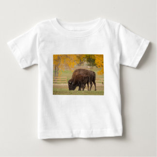 AAutumn Buffaloes Cow and Calf Baby T-Shirt