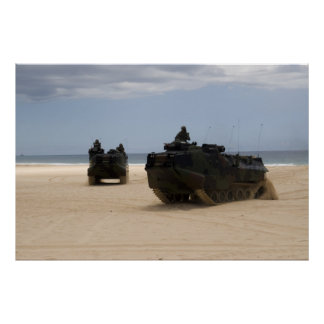 AAV7A1 Amphibious Assault Vehicles Poster