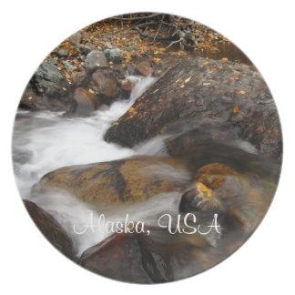 AAW Alaskan Autumn Waterfall Plate