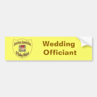 AAWO épousant Officiant Autocollant De Voiture