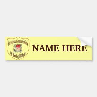 AAWO Member Logo Name Bumper Sticker