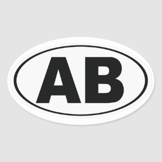 AB Atlantic Beach Florida Oval Sticker