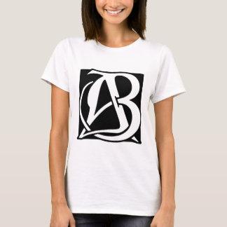 AB Monogram with Black Background T-Shirt