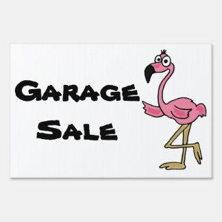 AB- Pink Flamingo Garage Sale Yard Sign