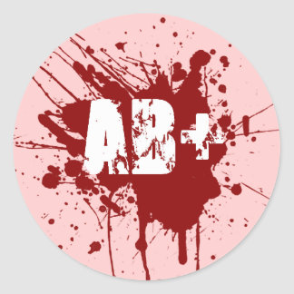 AB positive Blood Type Donation Vampire Zombie Stickers