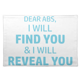 Ab Reveal Placemat