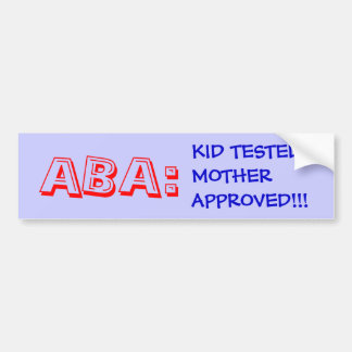 ABA BUMPER STICKER