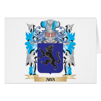 Aba Coat Of Arms Greeting Card