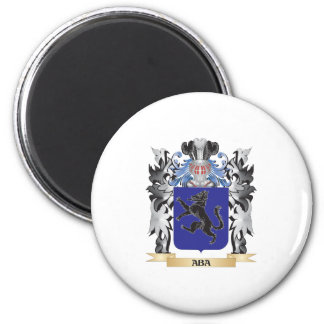 Aba Coat of Arms - Family Crest 2 Inch Round Magnet
