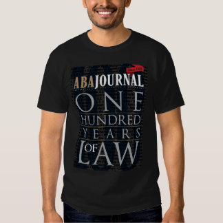 ABA Journal 100 Years of Law Tee Shirts
