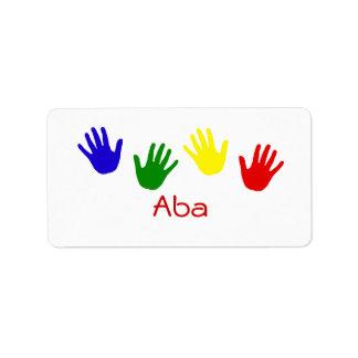 Aba Personalized Address Label