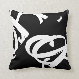 ABA® Square Pillow (white on black)