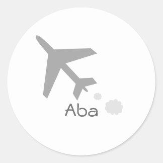 Aba Round Sticker