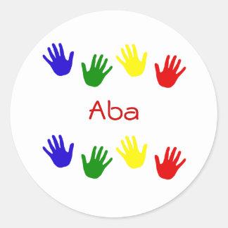 Aba Round Stickers