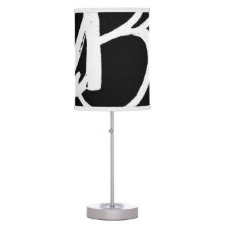 ABA®Table Lamp (white on blk w/white trim)