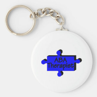 ABA Therapist (Blue P) Keychain