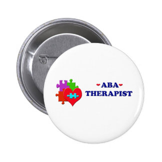 ABA Therapist Pinback Button