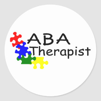 ABA Therapist (PP) Classic Round Sticker
