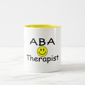 ABA Therapist (Smiley) Two-Tone Coffee Mug