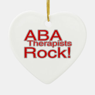 ABA Therapists Rock Autism Ornament