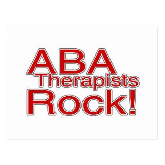 ABA Therapists Rock Postcard