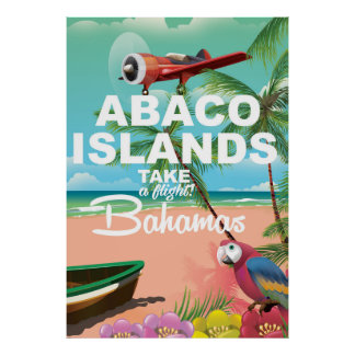 Abaco Islands beach  vacation poster