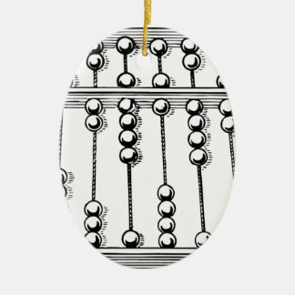 Abacus Ceramic Ornament