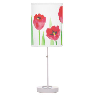 Abajur De Mesa Watercolor tulips lamp