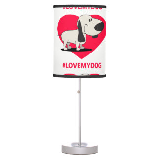 Abajur Love My Dog Table Lamp