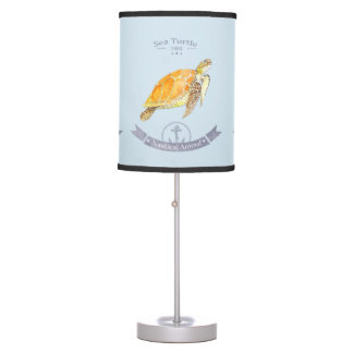 Abajur Turtle-navy | Sea Turtle Lamp