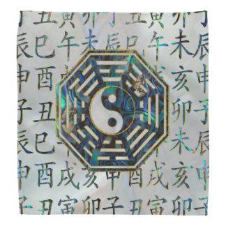 Abalone and Gold Bagua  feng shui hieroglyphs Bandana