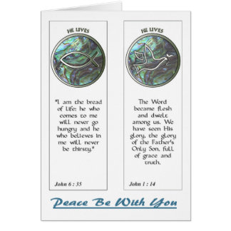 Abalone Dove and Fish Bookmarks Notecard