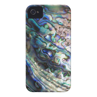 Abalone paua green blue kiwiana seashell iPhone 4 cases
