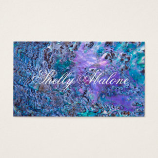Abalone sea shell background design 5 business card