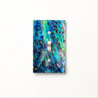 Abalone shell light switch cover