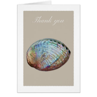 Abalone shell thank you card