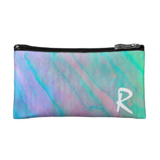 Abalone Shell Watercolor mother-of-pearl Shellfish Cosmetic Bags