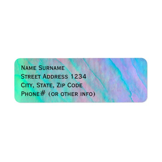 Abalone Shell Watercolor mother-of-pearl Shellfish Return Address Label