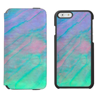 Abalone Shell Watercolor mother-of-pearl Stone Incipio Watson™ iPhone 6 Wallet Case