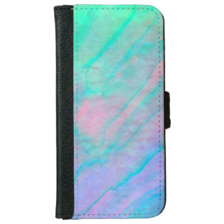 Abalone Shell Watercolor mother-of-pearl Stone iPhone 6 Wallet Case