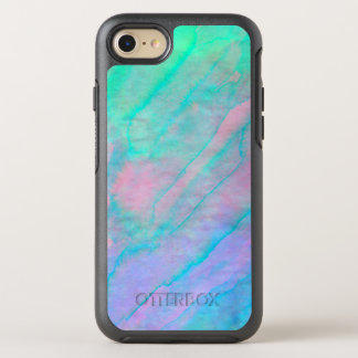 Abalone Shell Watercolor mother-of-pearl Stone OtterBox Symmetry iPhone 7 Case