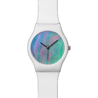 Abalone Shell Watercolor Mother of Pearl Stone Watch