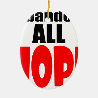 ABANDON all hope abandonallhope marine torpedo lau Ceramic Oval Ornament