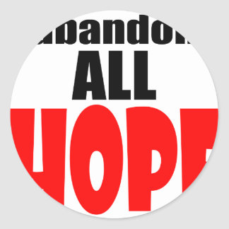 ABANDON all hope abandonallhope marine torpedo lau Classic Round Sticker